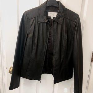 Lambskin Black Leather Coat- Small